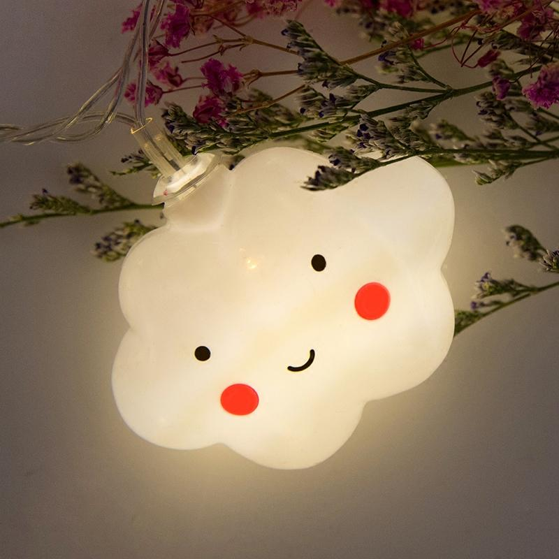 LED White Cloud String Fairy Night Lights - Alilight.net