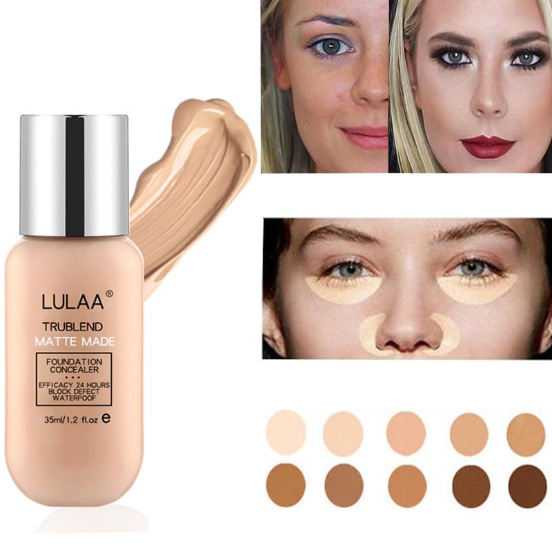 Liquid Foundation Nude Makeup Matte Concealer Lasting - Alilight.net