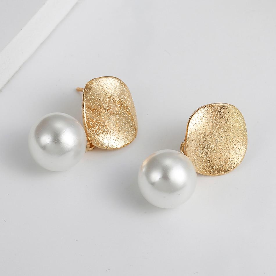 Match-Right Women Statement Hanging Pearl Earrings Korean Cute Dangle Drop - Alilight.net