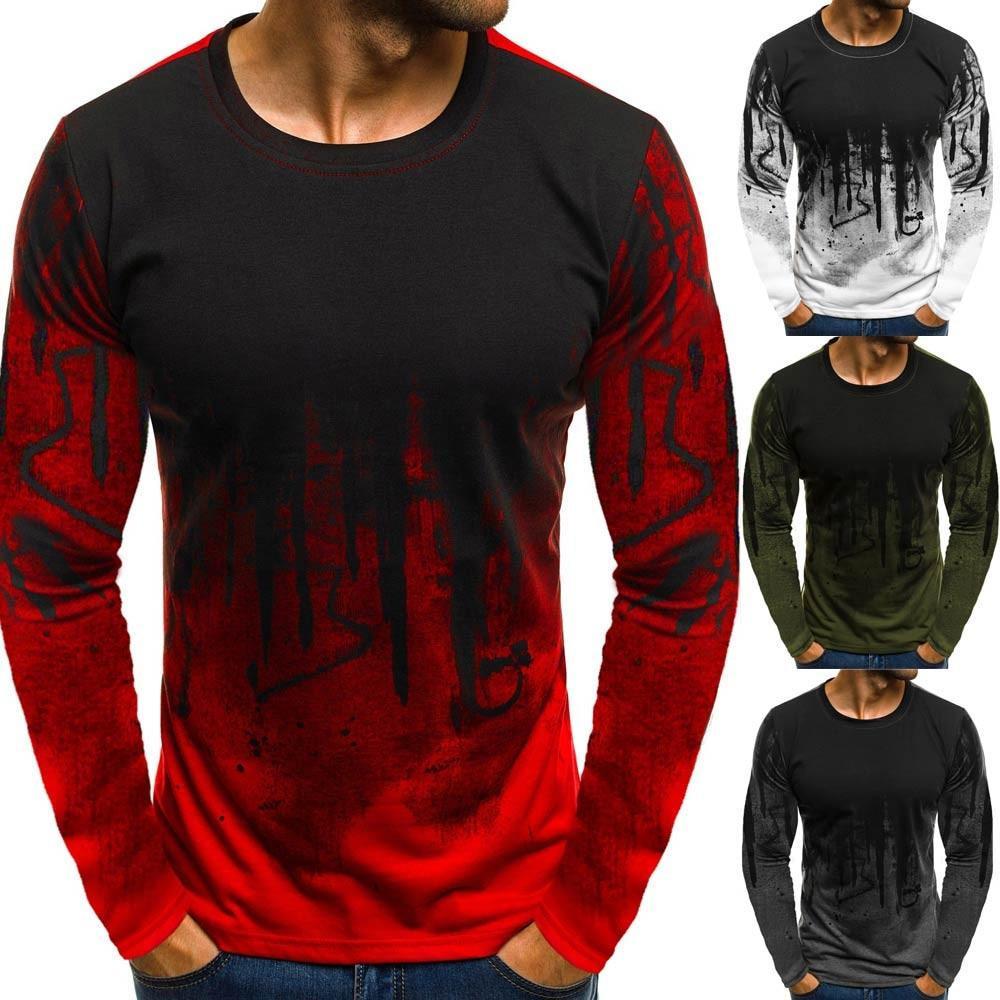 Men Solid Casual Full Sleeve Cotton Regular Tees - Alilight.net