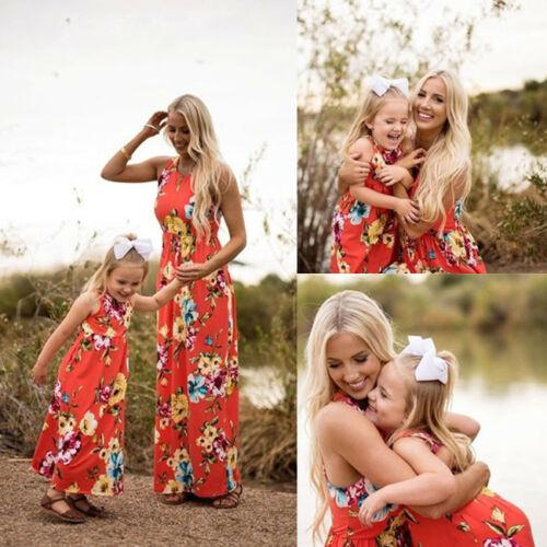 Mommy and Me Family Matching Dress Floral Sundress - Alilight.net
