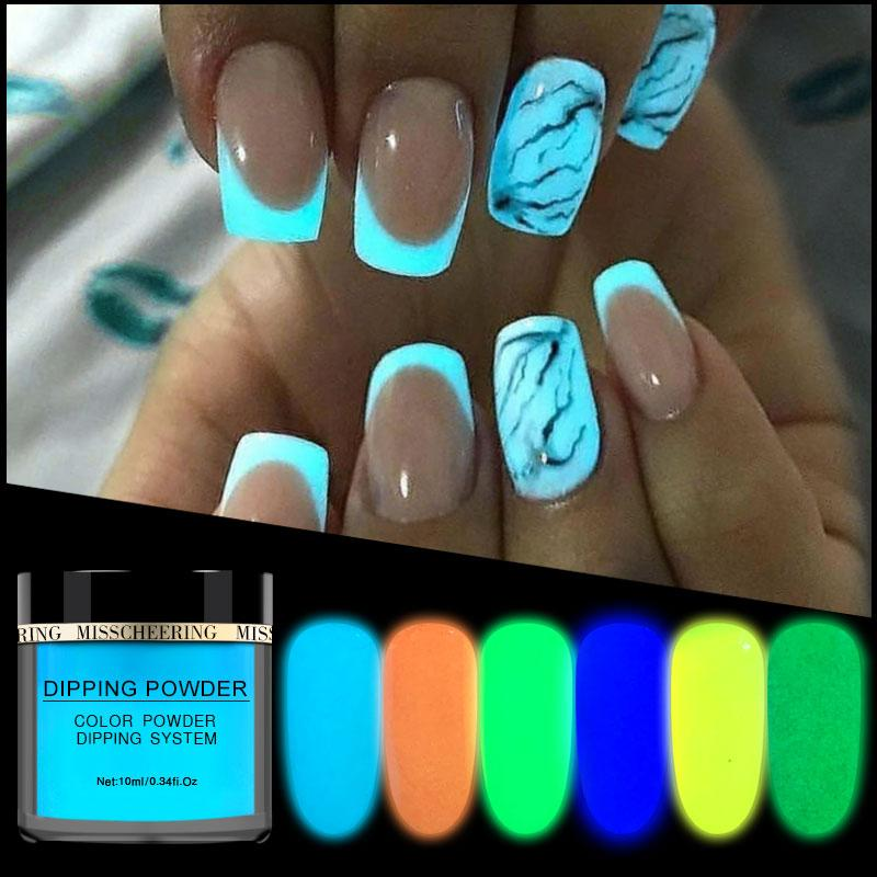 New 1box Neon Phosphor Dipping Powder Luminous - Alilight.net