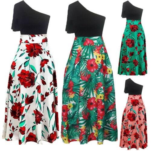 New Elegant Dress Fashion Womens Boho Singel Shoulder Floral - Alilight.net