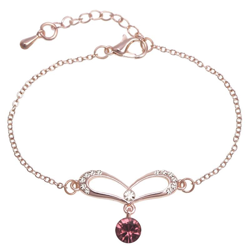 Women's new rose gold jewelry lucky beads America crystal jewelry - Alilight.net