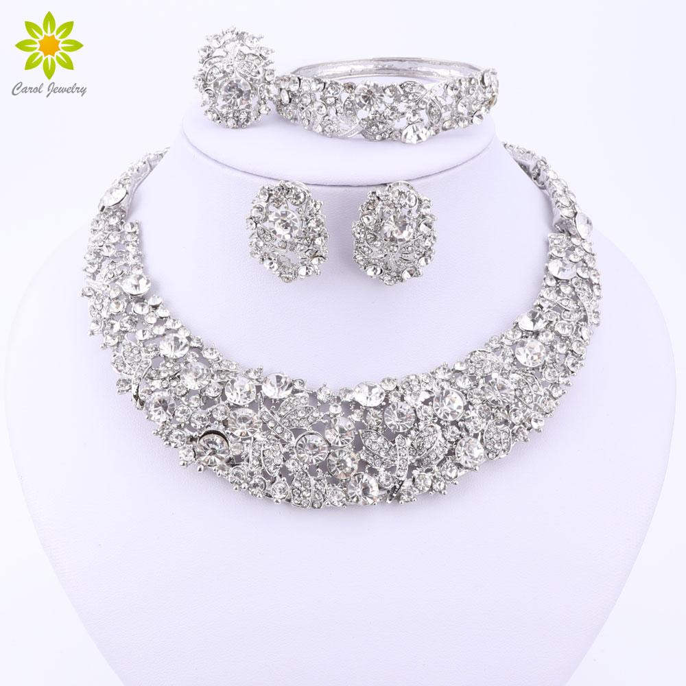 Nigerian Wedding African Beads Jewelry Sets Crystal Necklace Sets - Alilight.net