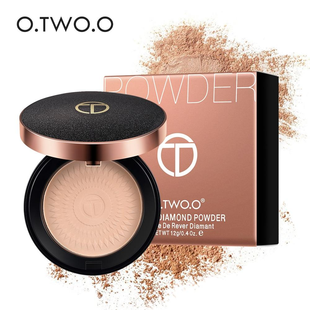 O.TWO.O Natural Face Powder Mineral Foundations Oil-control Brighten Concealer - Alilight.net