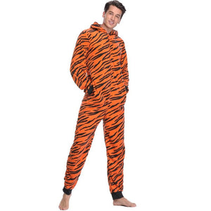 Women Stitch Onesie Animal Costumes Plus Size Fleece Tiger Pyjamas - Alilight.net