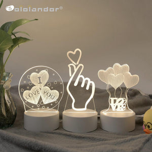 3D LED Lamp Creative 3D LED Night - Alilight.net