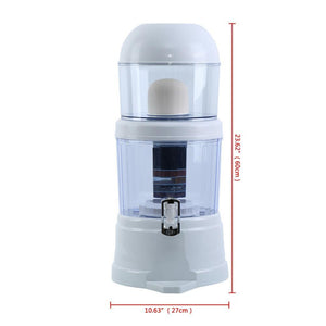 (Ship from AU) Home Water Filter Ceramic Carbon Mineral Bench-Top Dispenser Purifier 16L 14L