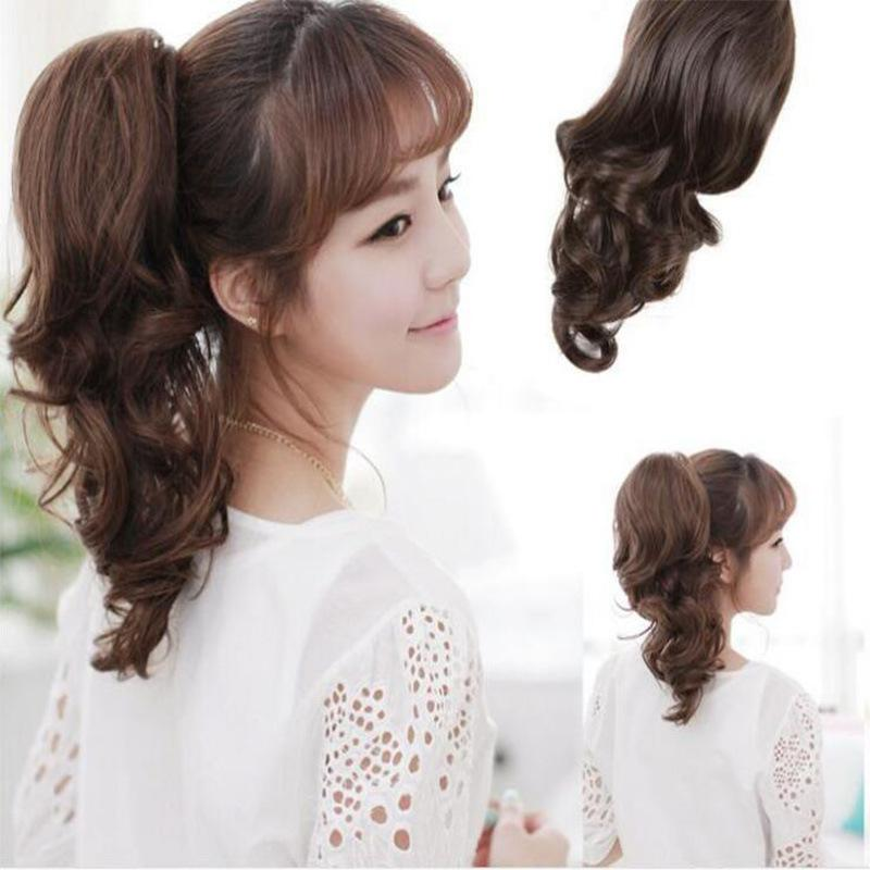 Spot wig claw clip short roll pony tail length can be set foreign trade and America wig - Alilight.net