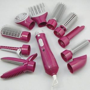 Supply multi-function direct hair furl hair dryer comb high power home hair style instrument set 10 - Alilight.net