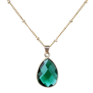 12Colors Birthstone Natural Stone Pendant Necklace - Alilight.net