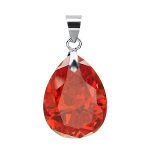 2pcs Drop Natural Stone Zircon Charms Pendant Necklace Jewelry - Alilight.net