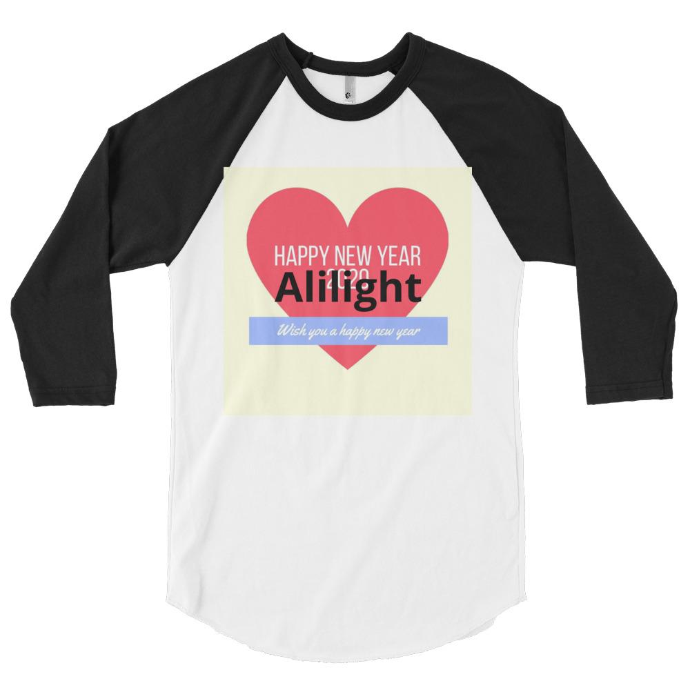 3/4 sleeve raglan shirt - Alilight.net