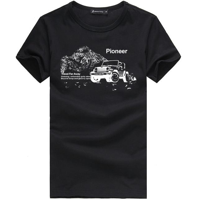 Pioneer Camp fashion summer short t shirt men brand clothing - Alilight.net