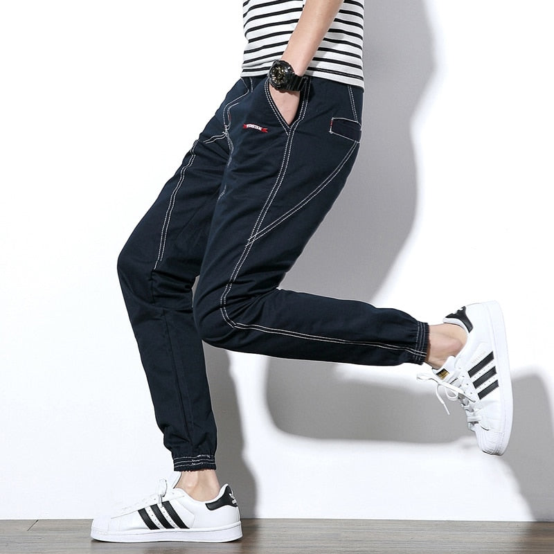 Men Denim Jeans Casual Strip Trousers - Alilight.net