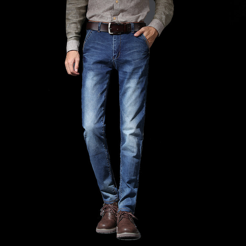 Men Denim Jeans Casual Pencil Pants - Alilight.net