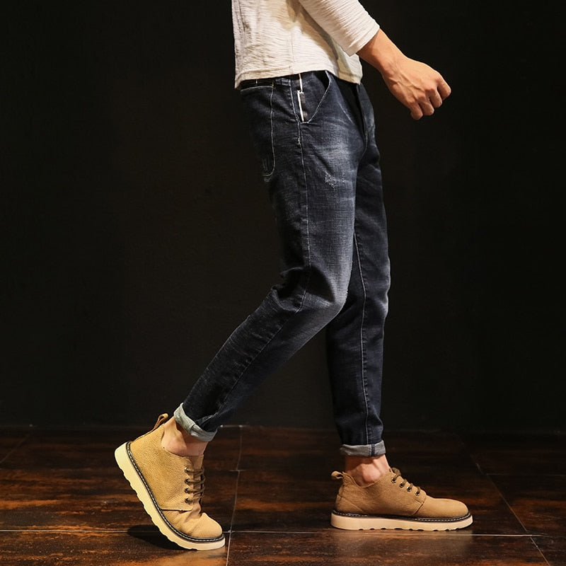 Men Denim Jeans Spring Harem Pant - Alilight.net