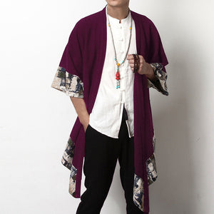 Men's Cardigan Wide-Waisted Three Quarter - Alilight.net
