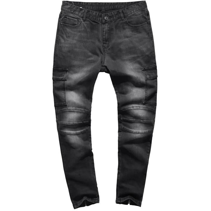 Men Denim Cargo Jeans Pant - Alilight.net