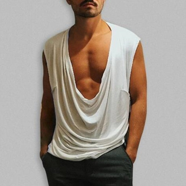 Men's V Neck Muscle Tee Plus Size S-5XL Sexy Tank Tops - Alilight.net