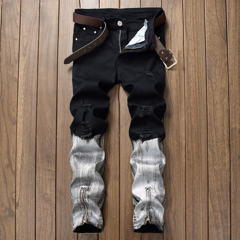 Men Denim Jeans Pants Zipper Fly - Alilight.net