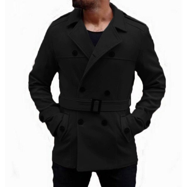 Men Trench Coat Faux Suede Trench Coat - Alilight.net