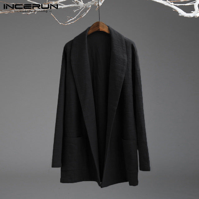 INCERUN Vintage Trench Coat Outerwear - Alilight.net