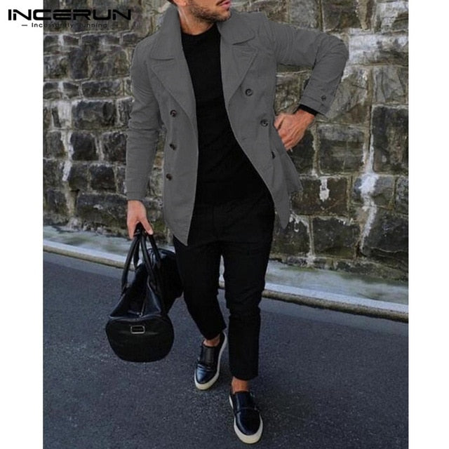 INCERUN Regular Mens Jackets Coats - Alilight.net