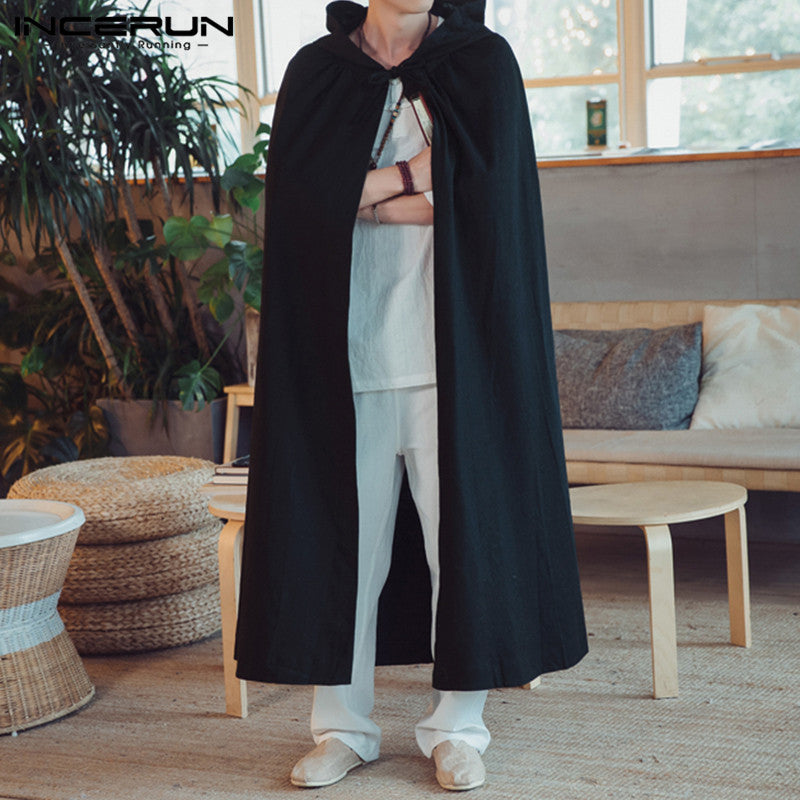 Men's Cloak Vintage Long Outerwear - Alilight.net