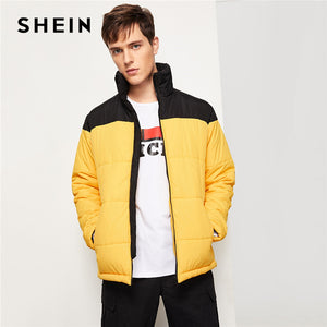 SHEIN Men Yellow Highstreet Outerwear - Alilight.net