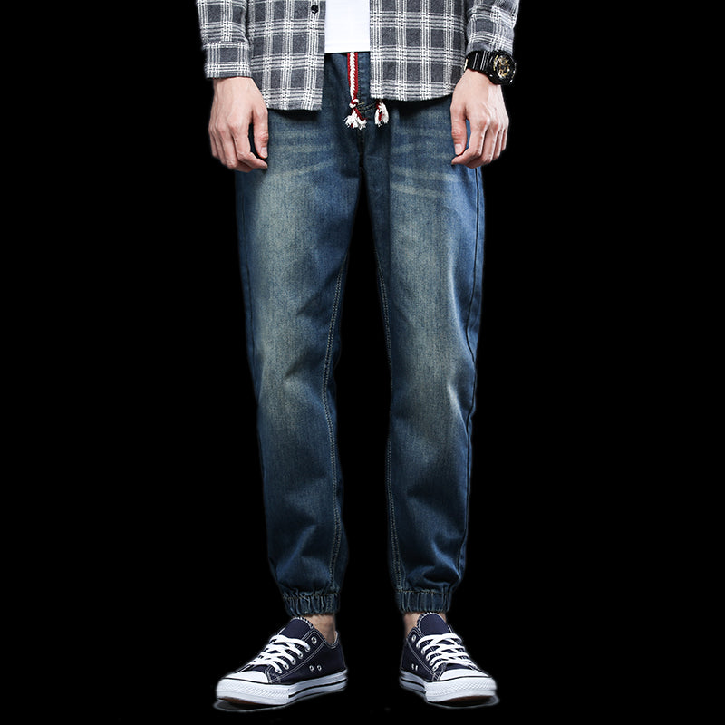 Men Cotton Casual Waist Harem Pant - Alilight.net