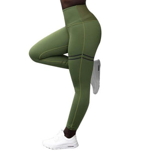 Gym workout Leggings young female tight-fitting form-fitting Joggers Pants compressed - Alilight.net