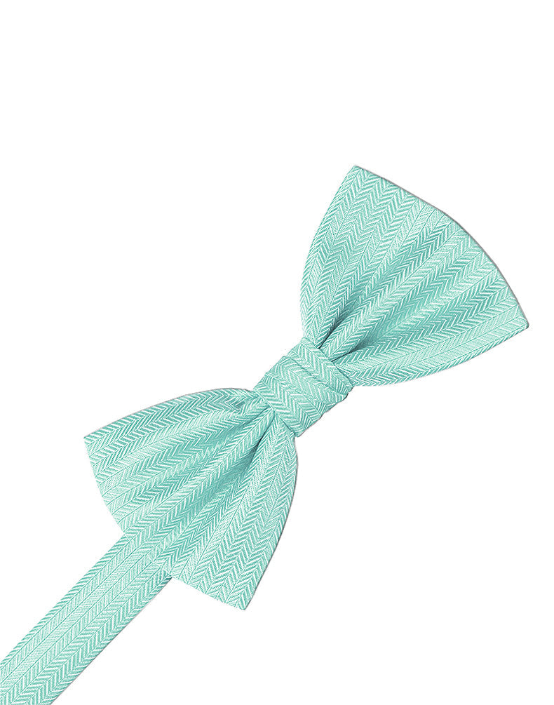 Pool Herringbone Bow Tie