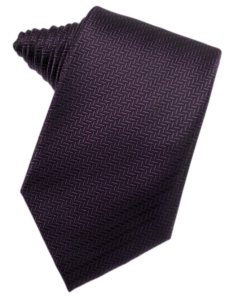 Raisin Herringbone Necktie