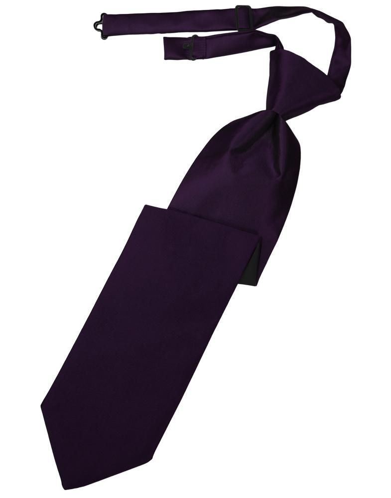 Amethyst Luxury Satin Kids Necktie