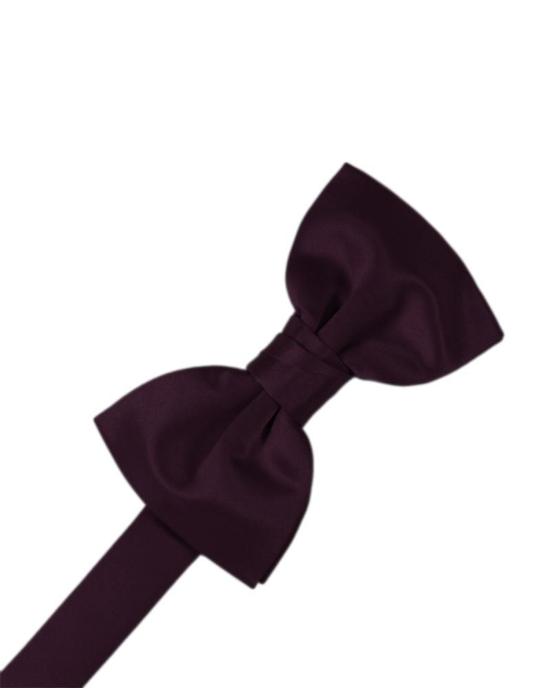 Berry Luxury Satin Bow Tie