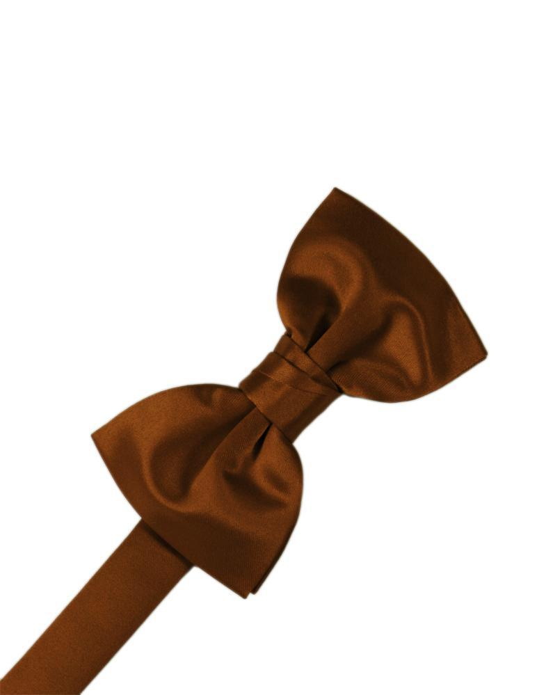 Cognac Luxury Satin Bow Tie