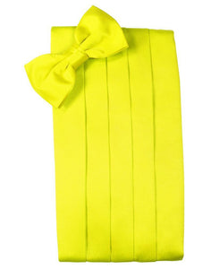 Lemon Luxury Satin Cummerbund