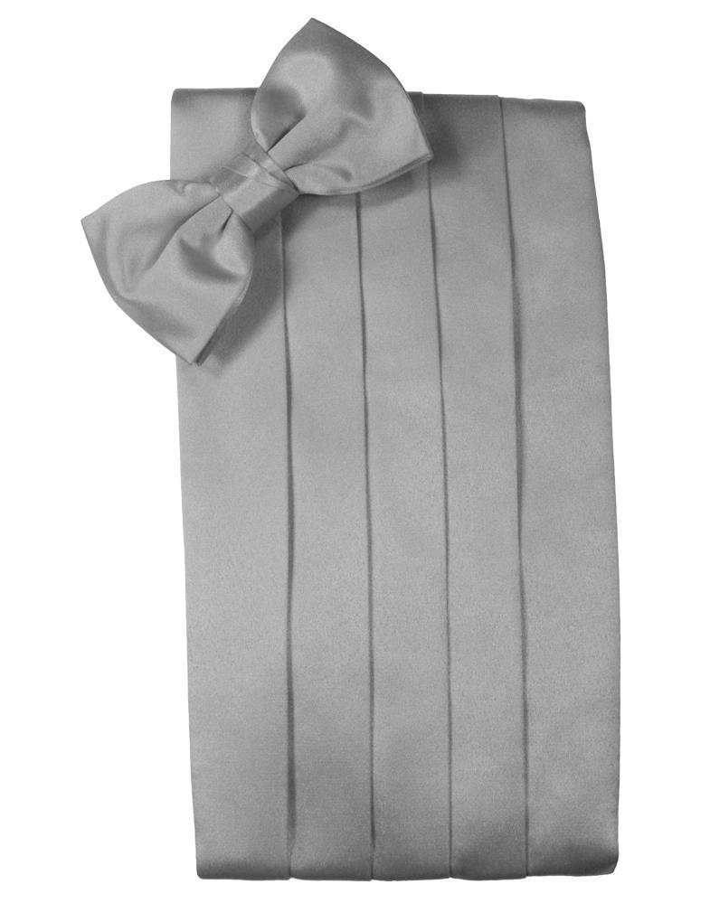Silver Luxury Satin Cummerbund