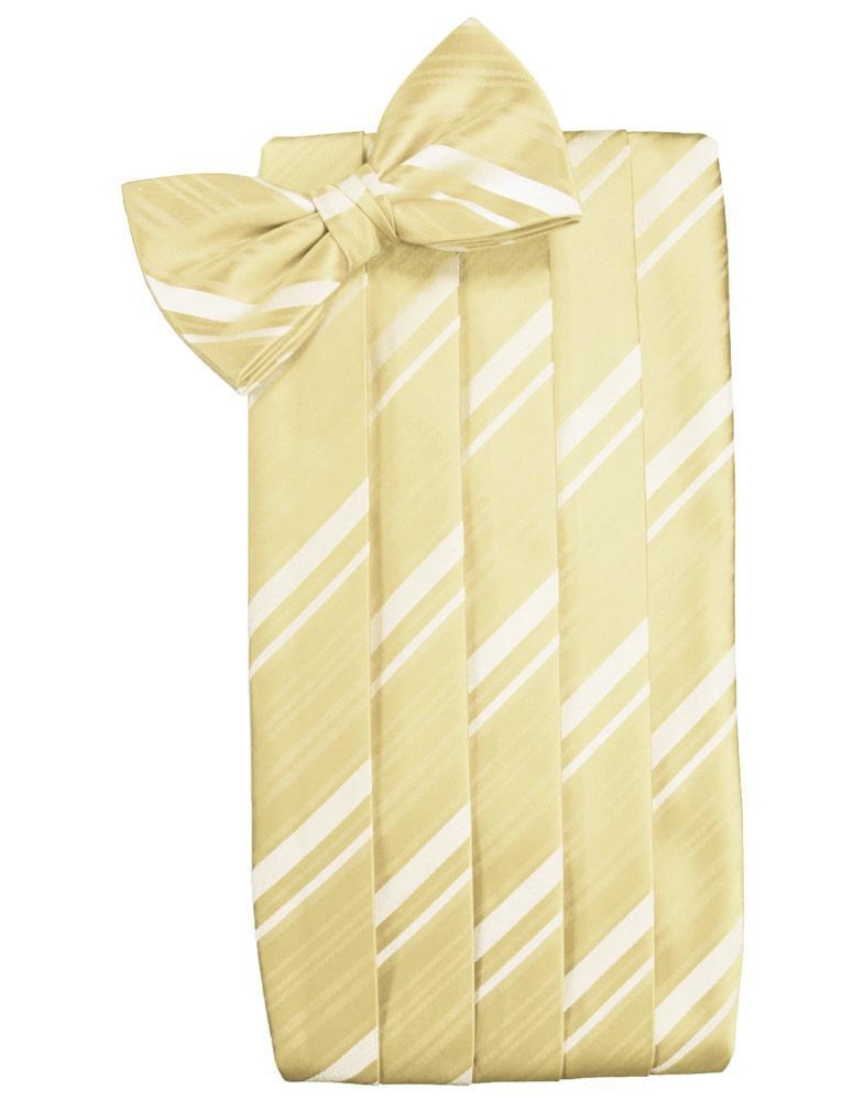Banana Striped Satin Cummerbund