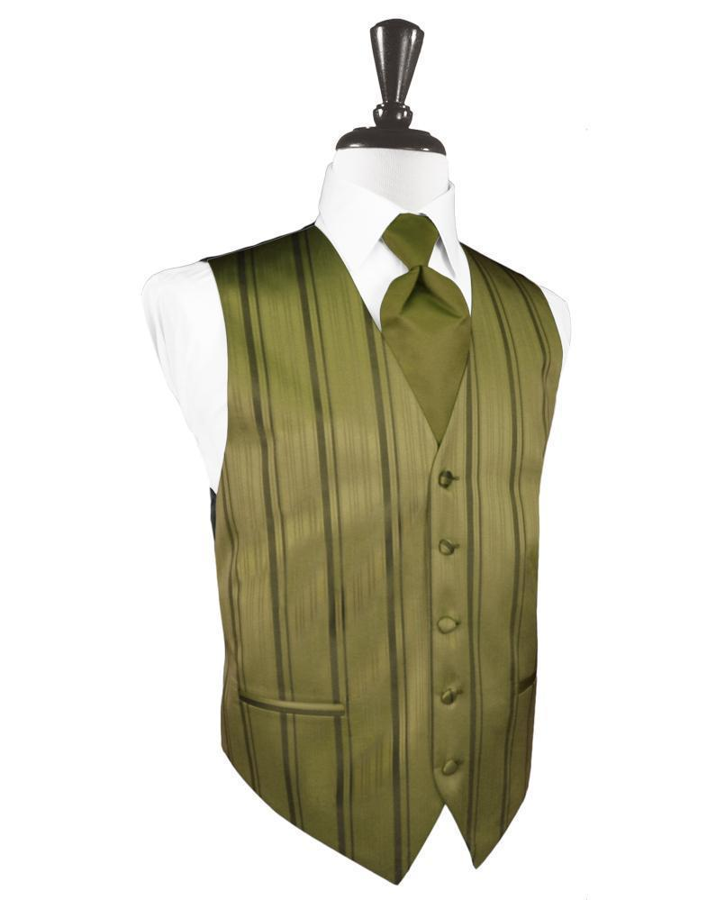 Fern Striped Satin Tuxedo Vest