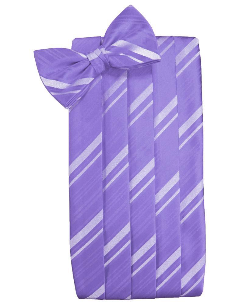Freesia Striped Satin Cummerbund