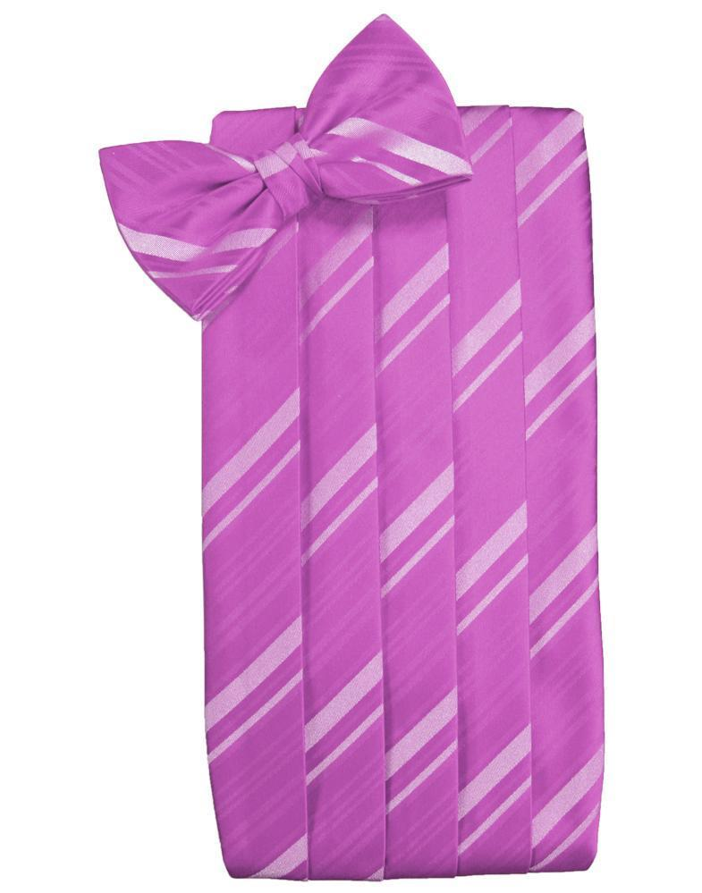 Fuchsia Striped Satin Cummerbund