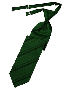 Hunter Striped Satin Necktie