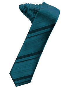 Oasis Striped Satin Skinny Necktie