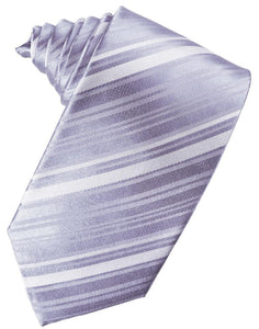 Periwinkle Striped Satin Necktie