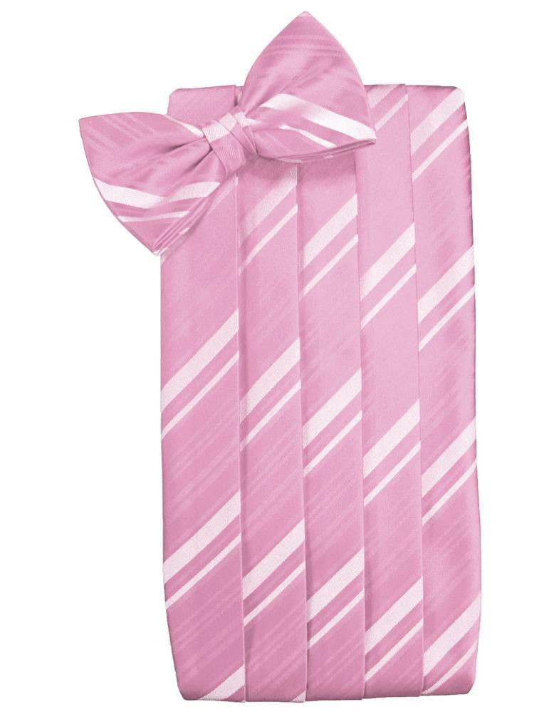 Rose Petal Striped Satin Cummerbund