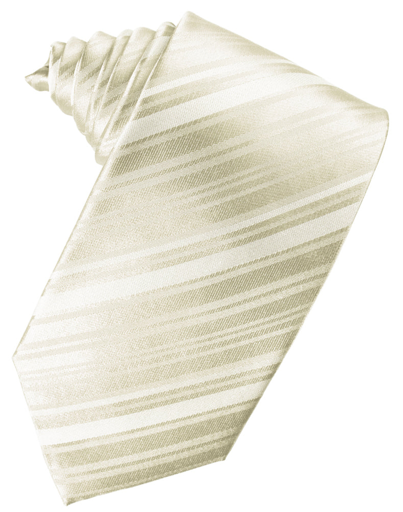Ivory Striped Silk Necktie
