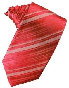 Persimmon Striped Silk Necktie